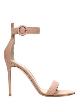 Kadın Portofino Altın Rengi Deri Sandalet Bej 40 EU