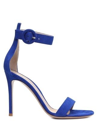 Kadın Portofino 105 Lacivert Süet Sandalet Mavi 36.5 EU