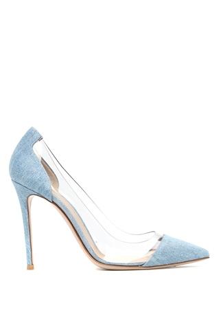 Kadın Plexi Denim Görünümlü Stiletto Mavi 37.5 EU