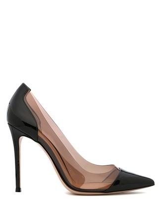 Kadın Plexi Siyah Bantlı Deri Stiletto 38.5 EU