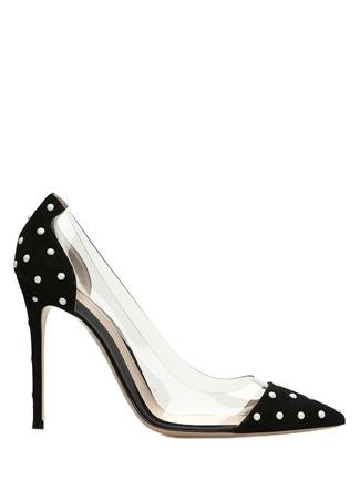 Kadın Reine Siyah Süet Topuklu Ayakkabı 38 EU