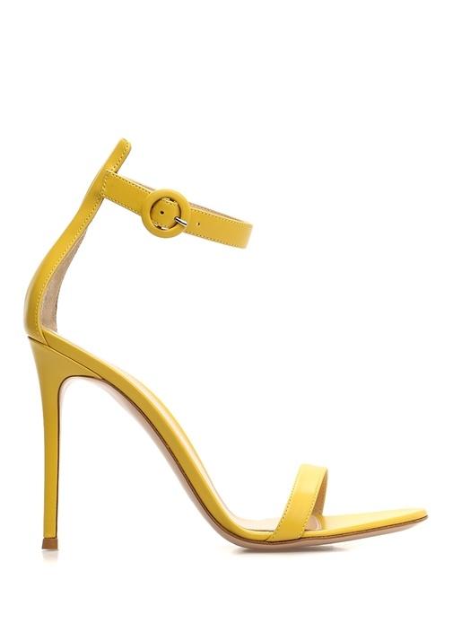 Portofino Sarı Kadın Deri Sandalet