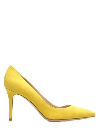 Kadın Glanvito 85 Sarı Süet Topuklu Ayakkabı 38 EU