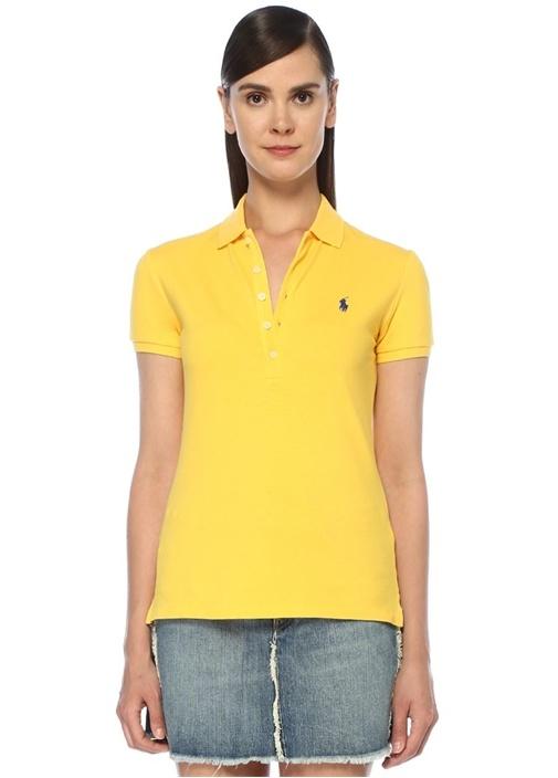 Slim Fit Sarı Polo Yaka T-shirt
