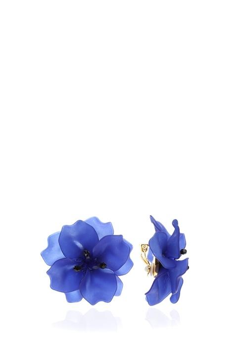 Mor Çiçek Formlu Kadın Küpe