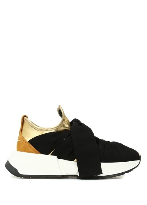 Gold Siyah Kurdele Detaylı Kadın Sneaker