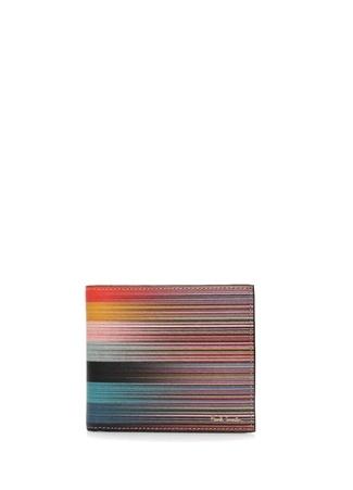 Paul Smith Erkek Colorblocked Çizgili Deri Cüzdan EU Çok Renkli male Standart