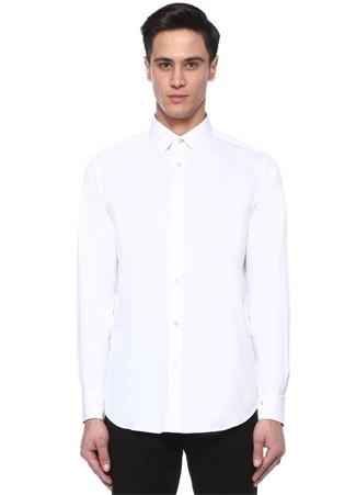 Soho Fit Beyaz İngiliz Yaka Gömlek