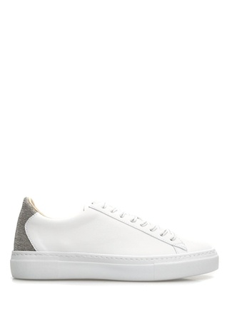 Caterina Beyaz Zincir Şeritli Kadın Deri Sneaker