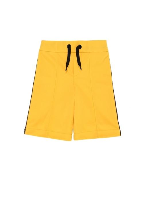 Sarı Yanı Şerit Logolu Erkek Çocuk Bermuda