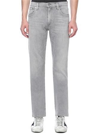 Classic Straight Gage Gri Normal Bel Jean Pantolon