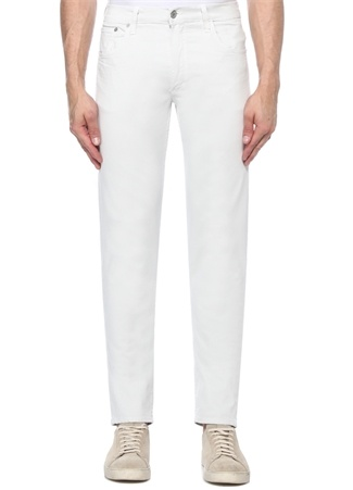 Bowery Standart Slim Fit Beyaz Pantolon