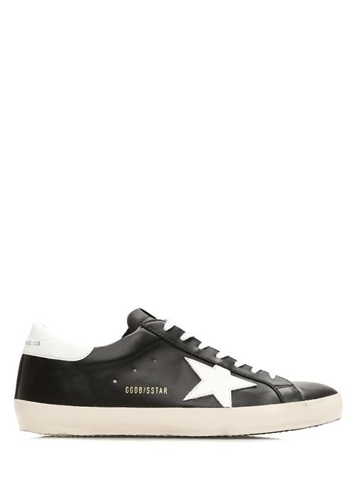 Superstar Siyah Beyaz Erkek Deri Sneaker