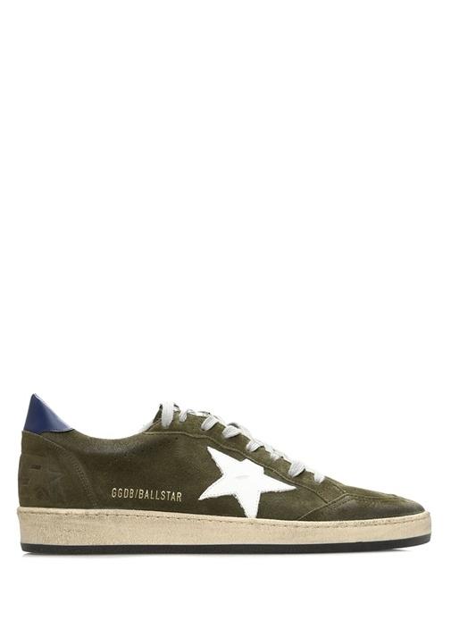 Ball Star Haki Beyaz Erkek Deri Sneaker