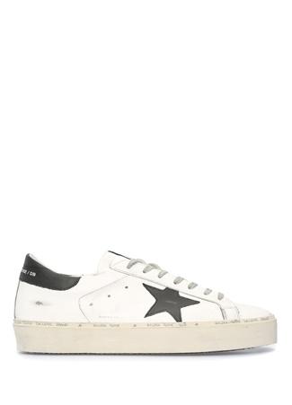 Hi Star Beyaz Siyah Erkek Deri Sneaker