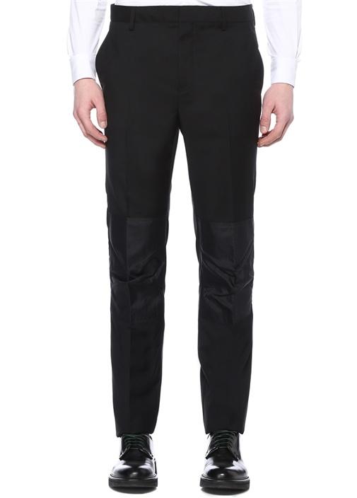 Siyah Normal Bel Yün Pantolon