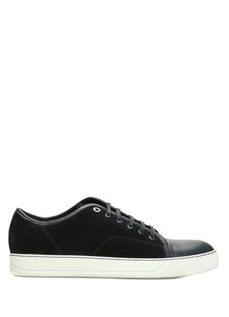 Lanvin Erkek Lacivert Garni Detaylı Deri Sneaker 9 UK male