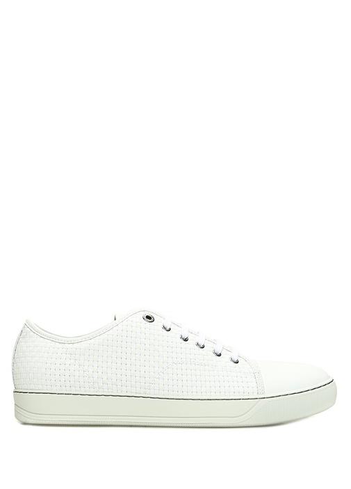 Beyaz Örgü Dokulu Erkek Sneaker