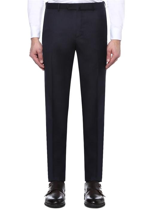 Lacivert Boru Paça Yün Kumaş Pantolon