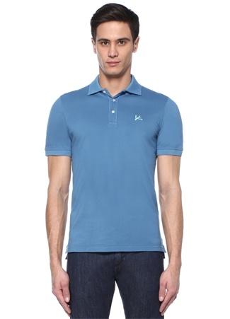 Isaia Erkek Mavi Polo Yaka Logo Nakışlı -shirt XL Ürün Resmi