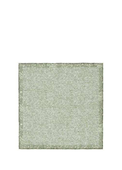 Yeşil Çiçek Desenli Poşet Mendil