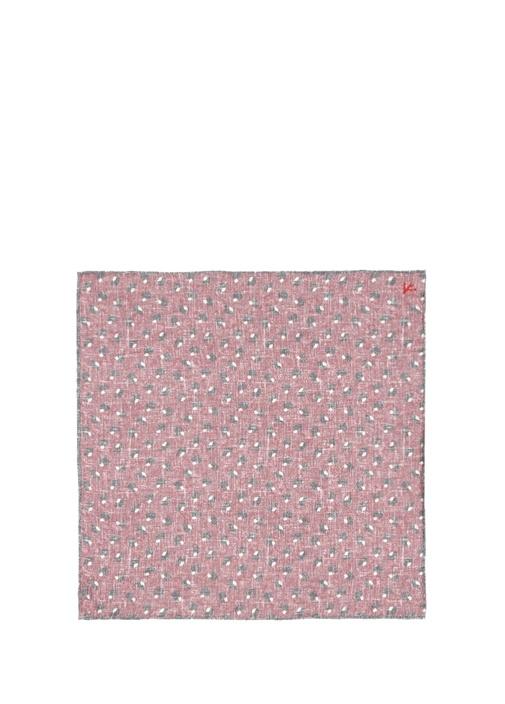 Pembe Mikro Desenli Poşet Mendil