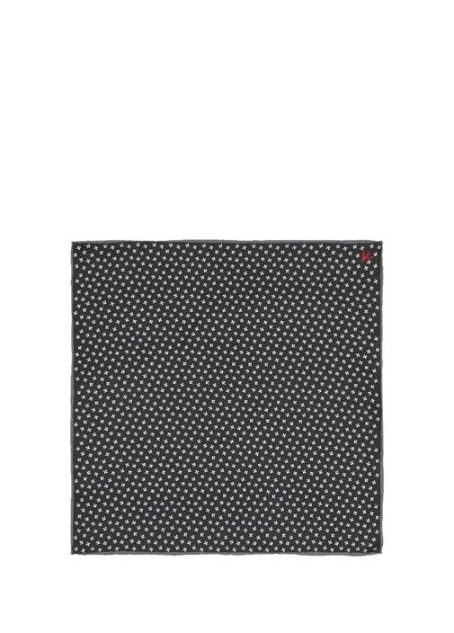 Siyah Mikro Desenli Poşet Mendil