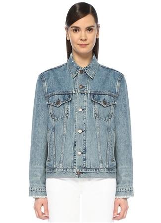 ReDone Re/Done Kadın Perfect Oversized Denim Ceket Mavi M EU