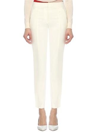 Vanner Beyaz Normal Bel Streç Crop Pantolon