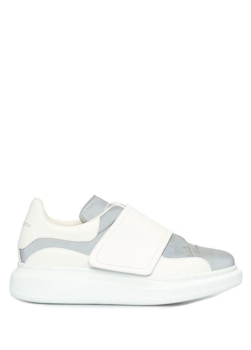 Oversize Beyaz Reflektif Detaylı Kadın Sneaker