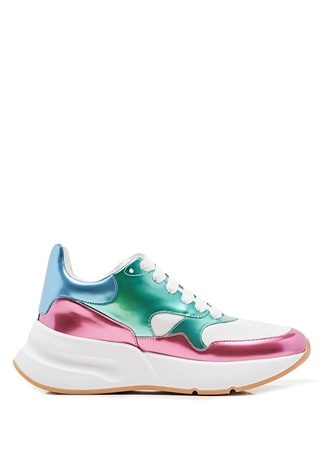 Kadın Runner Oversize Beyaz Yeşil Sneaker 39 EU