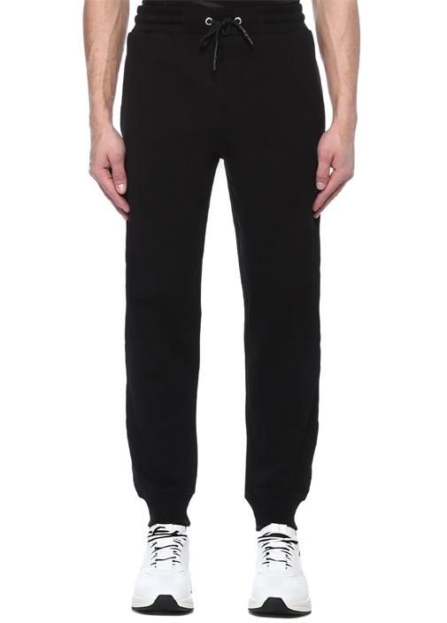 Siyah Kabartmalı Logolu Jogger Eşofman Altı