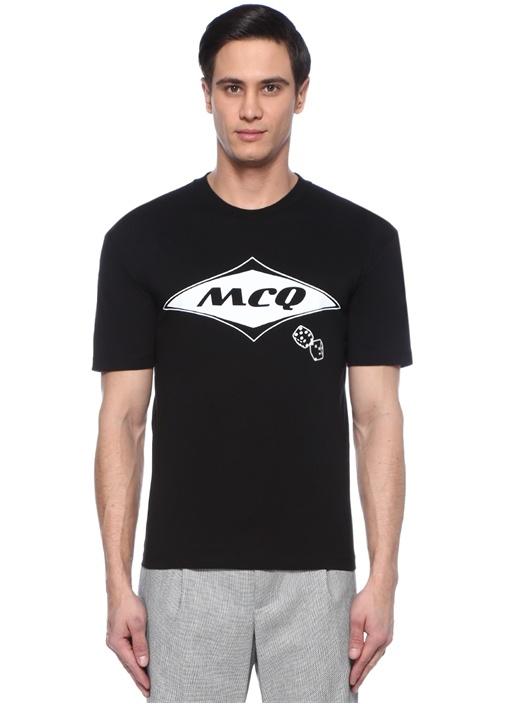 Siyah Logo Baskılı T-shirt