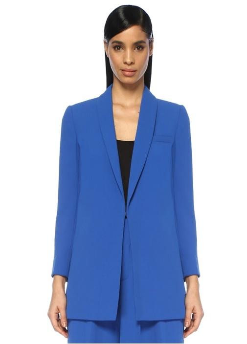 Jace Mavi Şal Yaka Oversize Blazer Ceket