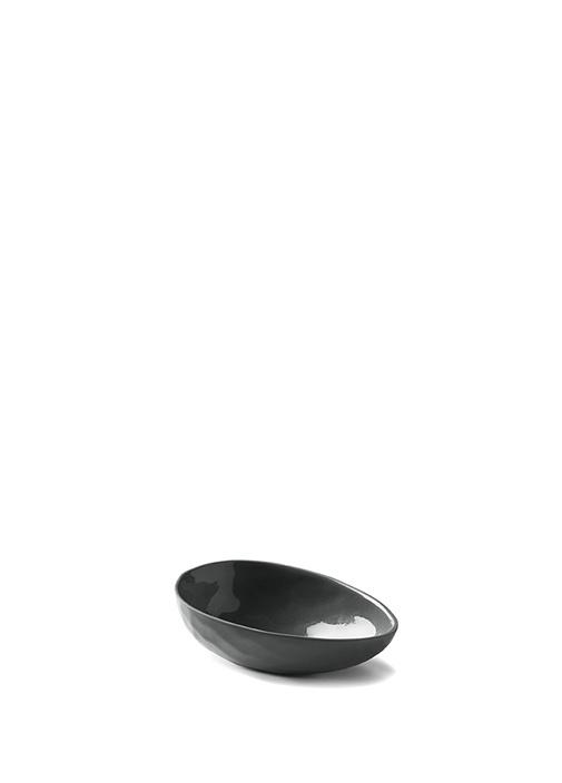 Siyah Yumurta Küçük Boy El Yapımı Porselen Kase