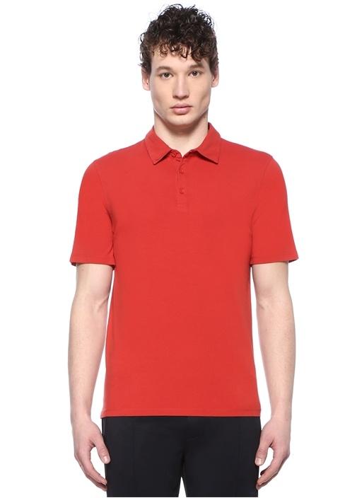 Kırmızı Polo Yaka Basic T-shirt