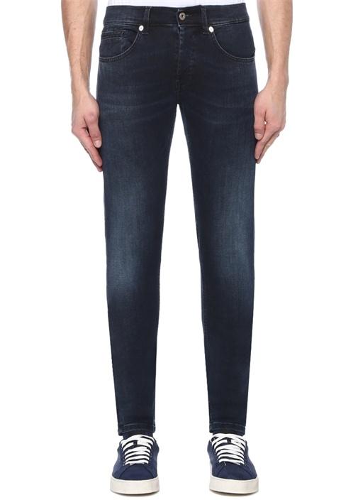 Skinny Fit George Mavi Düşük Bel Jean Pantolon