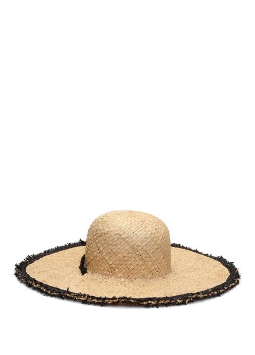 Bej Fiyonk Detaylı Kadın Hasır Şapka