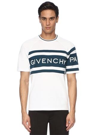 Erkek Yeşil Beya Bisiklet Yaka Kabartmalı Logolu T-shirt Mavi S EU