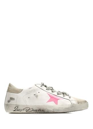 Superstar Beyaz Pembe Kadın Deri Sneaker