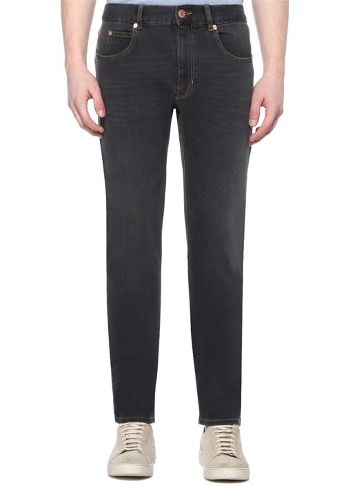 Kanh Slim Fit Siyah Jean Pantolon