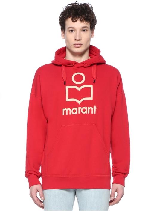 Miley Kırmızı Kapüşonlu Sweatshirt