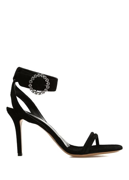 Alapee Siyah Bantlı Kadın Deri Sandalet