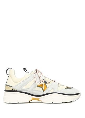 Kindsay Beyaz Süet Detaylı Kadın Sneaker