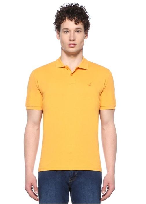 Comfort Fit Hardal Logo Nakışlı Polo Yaka T-shirt