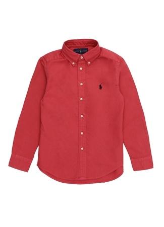 Erkek Çocuk Kırmızı Düğmeli Yaka Gömlek 4 Yaş EU