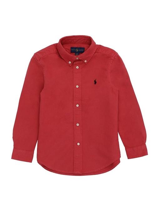 Cruise I Kırmızı Düğmeli Yaka Erkek Çocuk Gömlek