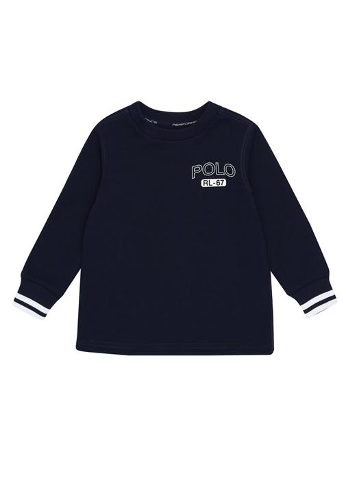 Lacivert Logo Baskılı Erkek Çocuk Sweatshirt