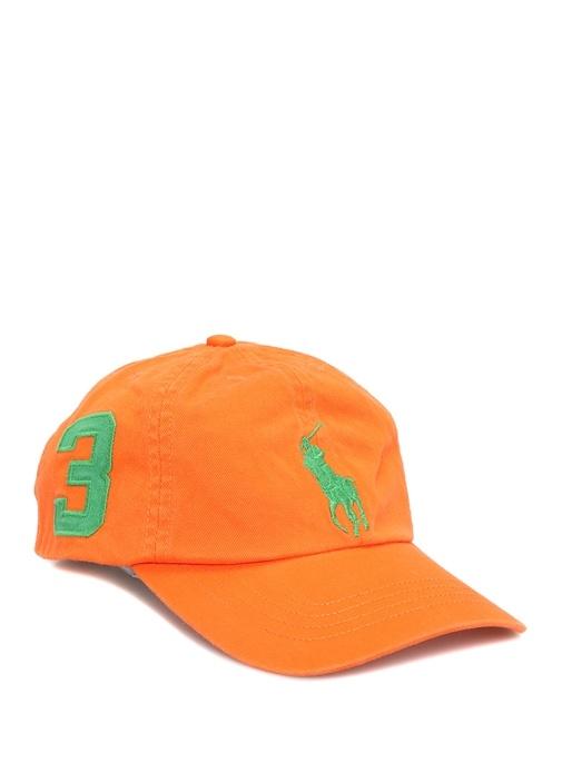 Big Pony Turuncu Logo Nakışlı Erkek Çocuk Şapka