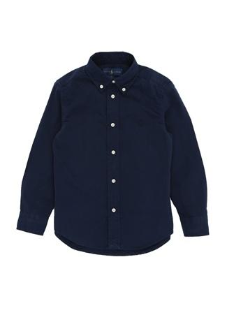 Erkek Çocuk Lacivert Düğmeli Yaka Gömlek L EU